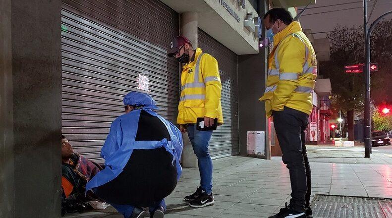 En la calle y contra la gripe